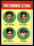 1963 Topps #496   -  Jack Smith / Carl Bouldin / Steve Dalkowski / Fred Newman Rookie Stars   Front Thumbnail