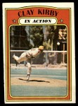 1972 Topps #174   -  Clay Kirby In Action Front Thumbnail