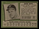 1971 Topps #417  Dick Hall  Back Thumbnail