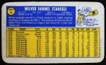 1970 Topps Super #19  Willie Stargell  Back Thumbnail