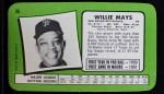1971 Topps Super #56  Willie Mays  Back Thumbnail