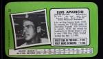 1971 Topps Super #23  Luis Aparicio  Back Thumbnail