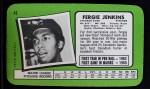1971 Topps Super #42  Fergie Jenkins  Back Thumbnail