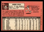 1969 Topps #502  Minnie Rojas  Back Thumbnail