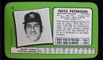 1971 Topps Super #13  Fritz Peterson  Back Thumbnail