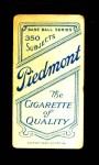 1909 T206  Bobby Byrne  Back Thumbnail