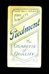 1909 T206  Bob Groom  Back Thumbnail