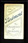 1909 T206 POR Miller Huggins  Back Thumbnail