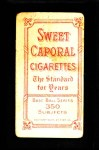 1909 T206  Charley Carr  Back Thumbnail