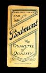 1909 T206  Jimmy Dygert  Back Thumbnail