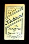 1909 T206 POR Fielder Jones  Back Thumbnail