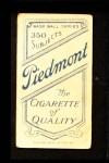 1909 T206 PCH Doc White  Back Thumbnail