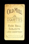 1909 T206 W Orval Overall  Back Thumbnail