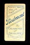 1909 T206  Frank Arellanes  Back Thumbnail
