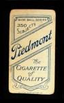 1909 T206  Jake Atz  Back Thumbnail