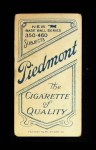 1909 T206  Hugh Duffy  Back Thumbnail