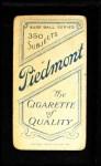 1909 T206  Al Mattern  Back Thumbnail