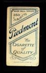1909 T206 FLD Mickey Doolan  Back Thumbnail