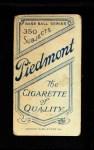 1909 T206 COL Josh Clarke  Back Thumbnail