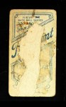 1909 T206 SID Howie Camnitz  Back Thumbnail