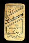 1909 T206 BAL Jack Dunn  Back Thumbnail