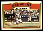 1972 Topps #714   -  Gene Michael In Action Front Thumbnail