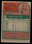 1975 Topps Mini #87  George Foster  Back Thumbnail