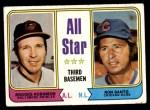 1974 Topps #334   -  Brooks Robinson / Ron Santo All-Star Third Baseman   Front Thumbnail