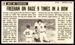 1964 Topps Giants #30  Bill Freehan   Back Thumbnail