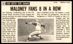 1964 Topps Giants #34  Jim Maloney   Back Thumbnail