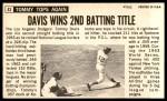 1964 Topps Giants #43  Tommy Davis   Back Thumbnail