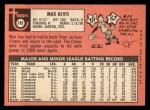 1969 Topps #145  Max Alvis  Back Thumbnail