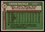 1976 Topps #89  Vern Ruhle  Back Thumbnail