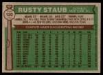 1976 Topps #120  Rusty Staub  Back Thumbnail
