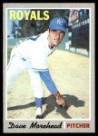 1970 Topps #495  Dave Morehead  Front Thumbnail