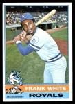 1976 Topps #369  Frank White  Front Thumbnail