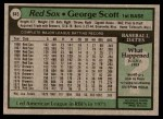 1979 Topps #645  George Scott  Back Thumbnail