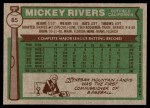 1976 Topps #85  Mickey Rivers  Back Thumbnail