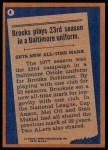 1978 Topps #4   -  Brooks Robinson Record Breaker Back Thumbnail