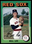 1975 Topps #128  Bill Lee  Front Thumbnail