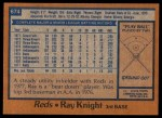 1978 Topps #674  Ray Knight  Back Thumbnail