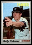 1970 Topps #142  Fritz Peterson  Front Thumbnail