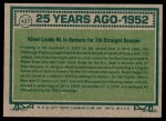 1977 Topps #437   -  Ralph Kiner Turn Back The Clock Back Thumbnail