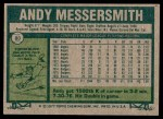 1977 Topps #80  Andy Messersmith  Back Thumbnail