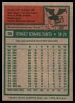 1975 Topps #35  Ron Santo  Back Thumbnail