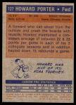 1972 Topps #127  Howard Porter   Back Thumbnail