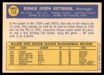 1970 Topps #123  Don Gutteridge  Back Thumbnail