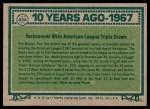 1977 Topps #434   -  Carl Yastrzemski Turn Back The Clock Back Thumbnail