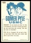 1965 Fleer Gomer Pyle #23   Don't Look So Miserable Back Thumbnail