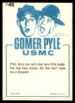 1965 Fleer Gomer Pyle #45   I Don't Make the Rules Back Thumbnail